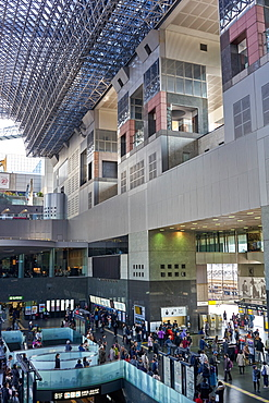 Interior of Kyoto train station, Kyoto, Japan, Asia