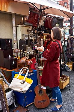 Second-hand shop in Shimokitazawa, Tokyo's hip neighbourhood, Tokyo, Japan, Asia