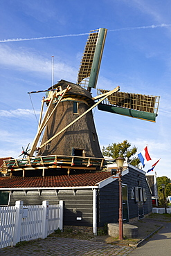 The old windmill Krijtmolen d'Admiraal dating from 1792 in Amsterdam Noord, Amsterdam, North Holland, The Netherlands, Europe