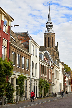 Lange Nieuwstraat and St. Catherine's Cathedral, Utrecht, North Holland, The Netherlands, Europe