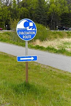 Tsunami Evacuation Road, Near Homer Harbor, Kenai Peninsula, Alaska,