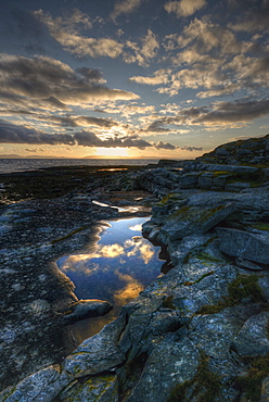 Barents Sea, Ekkeroy, Varanger Peninsula, Finnmark, Norway