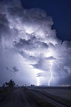 Thunderstorm over the Po Delta, Emilia Romagna, Veneto, Italy - 860-289063