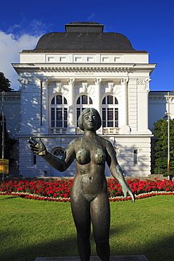 municipal theatre with bronze sculpture Eva by sculptor Adolf Brvºtt 1855-1939
