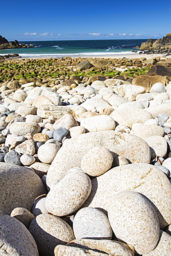 Cornish coastal scenery at Porthmeor Cove near Zennor, UK.