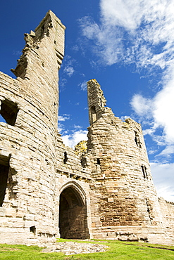 Dunstanburgh Castle, Northumberland, UK.