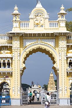 The famous Mysore Palace in Mysore, Karnataka, India.