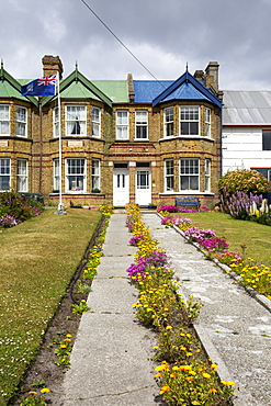 Houses in Port Stanley, the capital of the Falkland Islands.