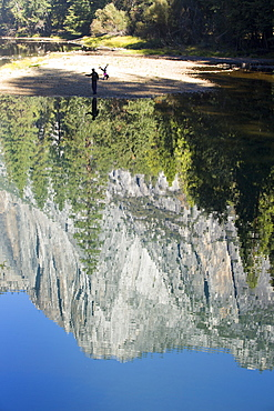 Reflections in the Merced River, Yosemite Valley, Yosemite National Park, California, USA.