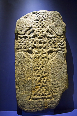 Ancient preserved grave slabs in Iona Abbey on Iona, off Mull, Scotland, UK.