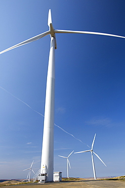The Clyde Wind Farm in the Southern Uplands of Scotland near Biggar. It is one of europes largest incorporating 152 wind turbines that produce 350 MW and covers 47 square kilomtres