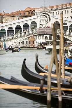 Gondolas in Venice, UNESCO World Heritage Site, Veneto, Italy, Europe