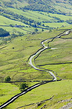 Kirkstone Pass above Ambleside in the Lake District, Cumbria, England, United Kingdom, Europe