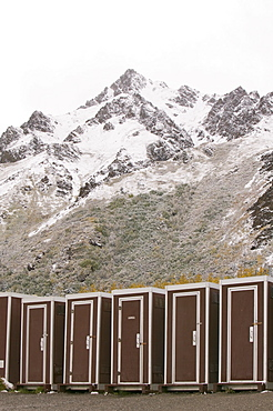 Toilets in Denali National Park, Alaska, United States of America, North America