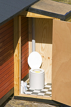 A toilet in a remote part of Greenland, Polar Regions