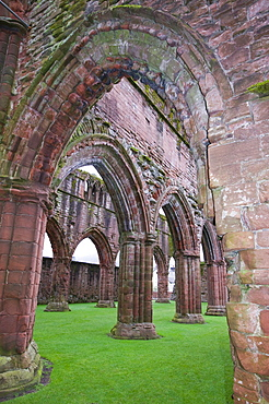 Sweetheart Abbey in Dumfries and Galloway, Scotland, United Kingdom, Europe