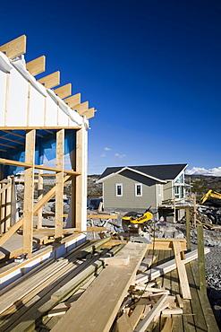 House building in Ilulissat on Greenland, Polar Regions