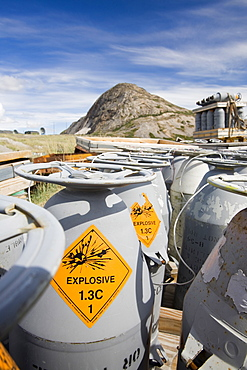 American military explosive rockets abandoned on a tip at Kangerlussuaq in Greenland, Polar Regions