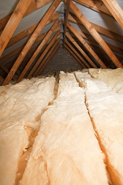 Insulation in a house loft or roof space