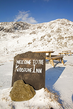 The summit of Kirkstone Pass in the Lake District, Cumbria, England, United Kingdom, Europe