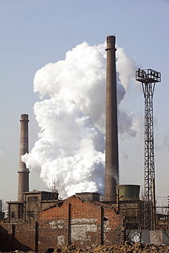 Hangdang Steel works is one of the largest steel plants in China, fuelling the country's huge construction boom and requiring massive quantities of coal to power its furnaces, Hangdang, Northern China, Asia