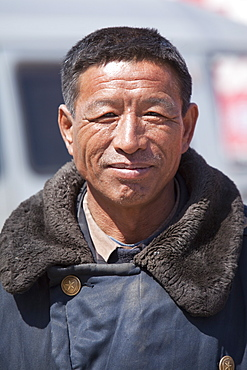 A Chinese man in Inner Mongolia, Northern China, Asia