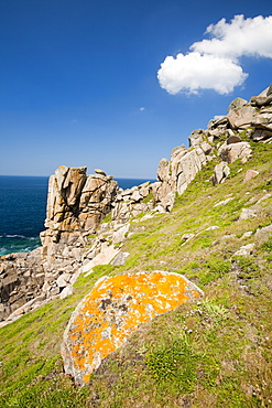Cornish coastal scenery near Cape Cornwall, Cornwall,  United Kingdom