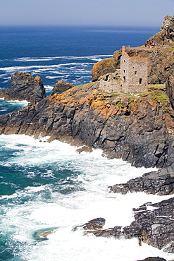 The Famous Crown tin mine at Botallack in Cornwall, England, United Kingdom, Europe