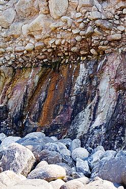 Remains of a raised beach near Sennen Cove, Cornwall, England, United Kingdom, Europe