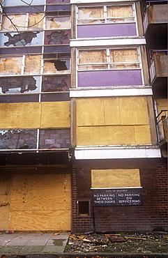 Derelict housing in Manchester, England, United Kingdom, Europe