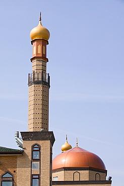 A mosque in a Pakistani area of Blackburn, Lancashire, England, United Kingdom, Europe