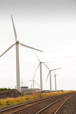 A windfarm on the outskirts of Workington at Siddick, Cumbria, England, United Kingdom, Europe