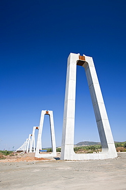 A High Speed rail link being constructed between Antequera and Granada in Andalucia, Spain, Europe