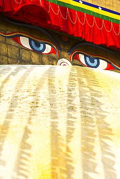 The Boudhanath Stupa, one of the holiest Buddhist sites in Kathmandu, UNESCO World Heritage Site, Nepal, Asia