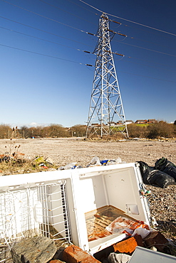 Fly tipping in Barrow in Furness, Cumbria, England, United Kingdom, Europe