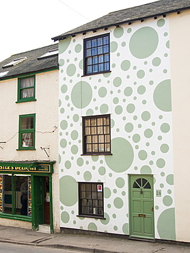 A spotty house in Bishops Castle, Shropshire, England, United Kingdom, Europe
