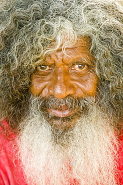Elderly man on Funafuti atoll, Tuvalu, Pacific