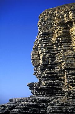Sedimentary cliffs, Nash Point, Heritage Coast, Vale of Glamorgan, Wales, UK         (rr)