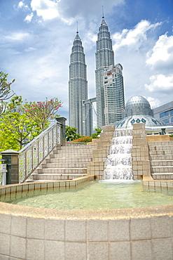 Petronas Towers.  Kuala Lumpur, Selangor, Malaysia, Asia