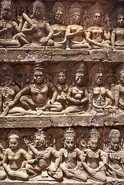 Stone carvings, Angkor Wat, UNESCO World Heritage Site, Siem Reap, Cambodia, Indochina, Southeast Asia, Asia