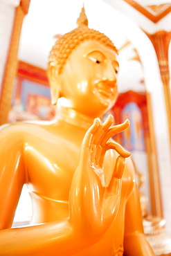 Statue, Karon Beach, Buddhist Temple, Phuket Island, Phuket, Thailand, Southeast Asia, Asia