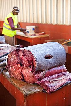 04/04/2009 Mindelo, Fishmarke, Torre de Belem, Near the fishmarket of Mandelo. . Mindelo, Fish Market, Sao Vicente Island. Cape Verde Islands