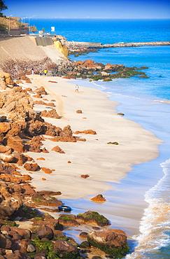 beach scape, sea side, coast of Senegal looking on to Island of Goree. Dakar , City  Center, Cape Verde Peninsula. Senegal