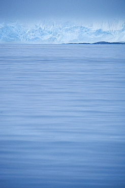 View over the sea to iceberg. Svalbard, Norway       (rr)