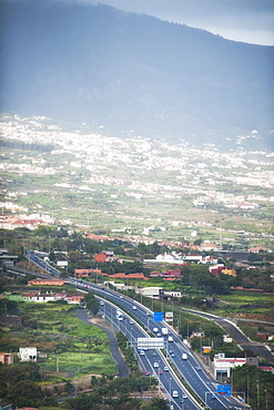 Santa Ursula El Teide and La Orotava valley view. Santa Cruz, La Orotava(world heritage site), Tenerife Island. Canary Islands