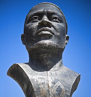 Independence Statue memorial, 03/04/2009. Praia, Assomada Village, Sao Tiago Island. Cape Verde