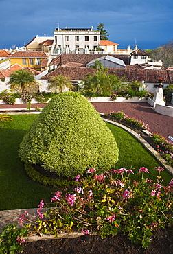 Spain, Espa–a, Canary Islands, Canarias, Tenerife, La Orotava, Jardines del Marquesado de la Quinta Roja. Santa Cruz, Tenerife Island. Canary Islands