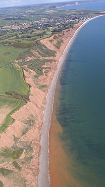 Otter Cove views looking at Budleigh Salterton. Devon, UK