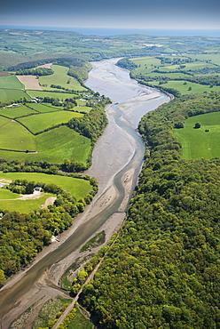 Fowey Estuary, Cornwall, England, United Kingdom, Europe