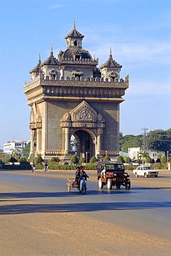 Anousavari Monument, Vientiane, Laos